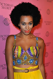 Solange Knowles attended the Victoria's Secret Swim Launch rockin' a natural Afro.