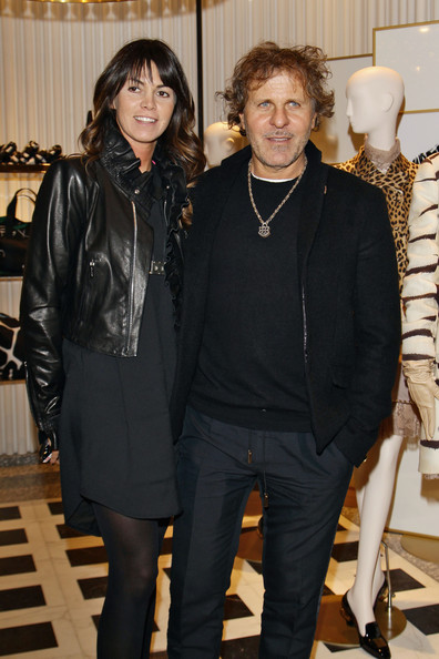 Renzo Rosso looked low-key but stylish in his black-on-black ensemble, topped off with a cropped jacket.