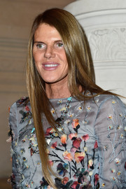 Anna dello Russo showed off a super-sleek hairstyle at the Valentino Couture fashion show.