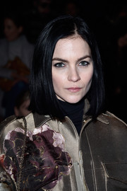 Leigh Lezark wore her hair in a simple bob when she attended the Valentino fashion show.