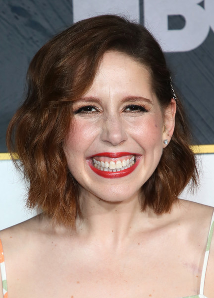 Vanessa Bayer Short Wavy Cut [hair,face,lip,tooth,eyebrow,smile,facial expression,hairstyle,chin,skin,arrivals,vanessa bayer,post emmy awards,the plaza,los angeles,california,pacific design center,hbo,reception,post emmy awards reception]