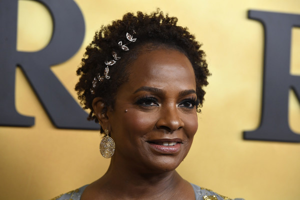 Vanessa Bell Calloway Short Curls [premiere of focus features,hair,hairstyle,jheri curl,afro,black hair,forehead,s-curl,human,smile,ringlet,arrivals,harriet,vanessa bell calloway,california,los angeles,the orpheum theatre,focus features,premiere]