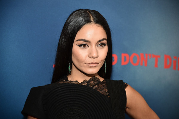 Vanessa Hudgens Long Straight Cut [the dead dont die,hair,face,eyebrow,hairstyle,lip,beauty,head,black hair,forehead,chin,vanessa hudgens,new york city,museum of modern art,new york premiere]