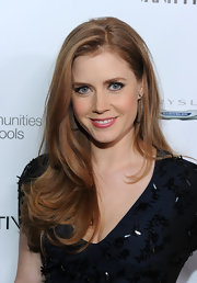 Amy Adams always looks perfectly polished on the red carpet and her long side parted mane was no different.