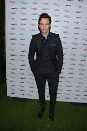 Eddie Redmayne rocked a classic three-piece gray suit at the Vanity Fair Campaign Hollywood night.