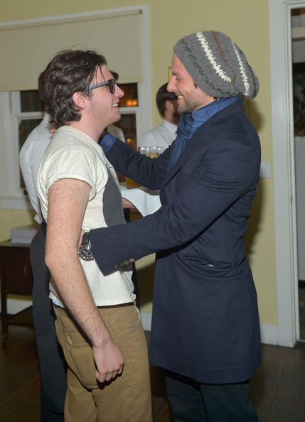 Bradley Cooper donned a knit beanie for a casual but cool look at a party for 'Silver Linings Playbook.'