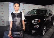 Kiersey Clemons wore a stylish hollow cuff to the Vanity Fair Young Hollywood celebration.