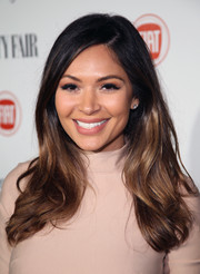 Marianna Hewitt wore her hair loose with a side part and feathery ends during the Fiat Young Hollywood celebration.