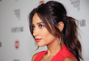 Shay Mitchell wore an oh-so-sexy retro ponytail at the Fiat Young Hollywood celebration.