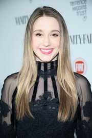 Taissa Farmiga wore her super-long hair down and sleek-straight during the Fiat Young Hollywood celebration.