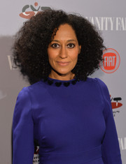 Tracee Ellis Ross stuck to her natural curls when she attended the Young Hollywood celebration.