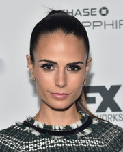 Jordana Brewster pulled her hair back into a tight ponytail for the Vanity Fair and FX Emmy nominations party.