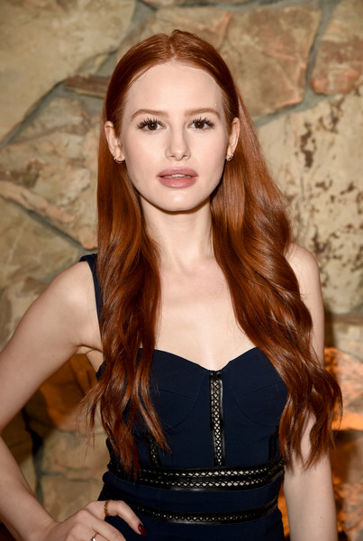 More Pics of Madelaine Petsch Lace Up Boots (1 of 6) - Madelaine Petsch Lookbook - StyleBistro [hair,face,long hair,hairstyle,beauty,brown hair,lady,lip,hair coloring,layered hair,fashion designers,madelaine petsch,first fragrance,arizona,beverly hills,vanity fair,jack mccollough,lazaro hernandez,proenza schouler,launch]