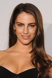Jessica Lowndes wore her lustrous locks long and straight with a sexy side part at the 'Vanity Fair' Oscar Party