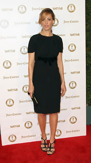 Kim Raver wore this bow-adorned LBD to the Vanity Fair anniversary party.