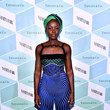 Lupita Nyong'o wearing Tiffany & Co. jewelry at the Vanity Fair and Tiffany & Co. Dinner