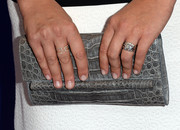 Katie Lowes went to the Variety Power of Women event carrying this super-chic gray crocodile clutch.