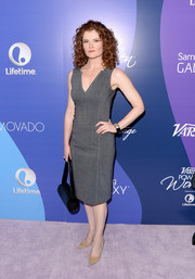 Rebecca Wisocky donned a simple yet sophisticated sleeveless gray sheath for the Variety Power of Women event.