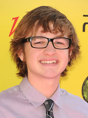 Seemed like Angus T. Jones forgot to even comb his hair before going to the Power of Youth event.