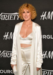Rumer Willis teamed a studded clutch with a satin outfit for Variety's Power of Young Hollywood event.
