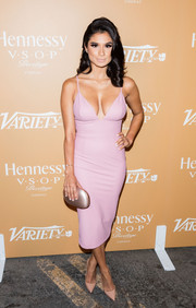 Diane Guerrero flaunted her assets in a low-cut pink dress during the 10 Latinos to Watch event.