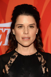 Neve Campbell swept her hair back in a half-up style for Variety's Power of Women event.