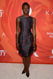 Danai Gurira kept it classic in this sleeveless cocktail dress when she attended Variety's Power of Women event.