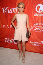 Megyn Kelly opted for a simple sleeveless nude dress by Alexander McQueen when she attended Variety's Power of Women event.