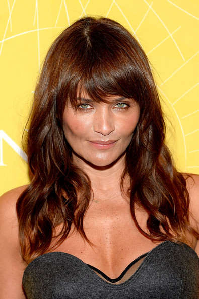 More Pics of Helena Christensen Long Wavy Cut with Bangs (1 of 5) - Helena Christensen Lookbook - StyleBistro