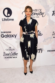 Carmen Ejogo was spring-chic in her floral frock during the Variety Power of Women event.