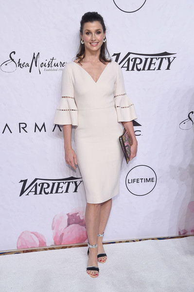 More Pics of Bridget Moynahan Cocktail Dress (1 of 3) - Dresses & Skirts Lookbook - StyleBistro [clothing,dress,shoulder,white,cocktail dress,fashion model,fashion,pink,joint,hairstyle,variety,power of women: new york,power of women: new york,new york city,cipriani wall street,bridget moynahan]