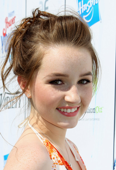 More Pics of Kaitlyn Dever Messy Updo (1 of 8) - Updos Lookbook - StyleBistro [hair,face,hairstyle,eyebrow,chin,forehead,beauty,lip,blond,nose,audio arrivals,kaitlyn dever,variety,power of youth,backlot,universal city,california,hasbro,power of youth,generationon]