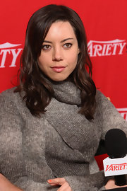 Aubrey Plaza wore a sheer muted pink lipstick at the 2012 Sundance Film Festival.