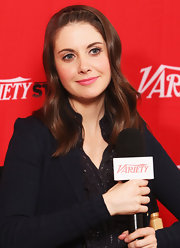 Alison Brie wore her hair with sweet French-braided bangs at the 2012 Sundance Film Festival.