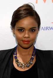 Sharon Leal wore a stylish side-parted short 'do during her visit to the Variety Studio.
