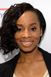 Anika Noni Rose kept it natural with just a swipe of lip gloss during her visit to the Variety Studio.
