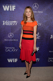 Michelle Monaghan brought a striking pop of color to the Variety and Women in Film Emmy nominee celebration with this red-orange J. Mendel dress.