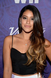 Gina Rodriguez wore her long hair down in ombre waves during the Variety and Women in Film Emmy nominee celebration.