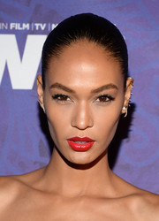 Joan Smalls topped off her look with a sexy red lip.