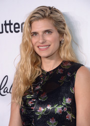 Lake Bell wore her hair down in an edgy wavy style at the Variety and Women in Film pre-Emmy celebration.