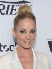 Joanne Froggatt looked cool and chic wearing this high bun at the Variety and Women in Film pre-Emmy celebration.