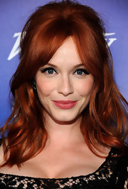 Christina Hendricks has perfected the art of the half-up 'do!