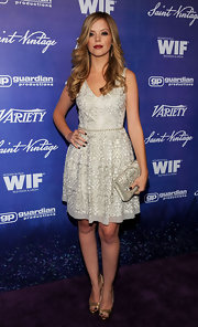 Dreama was such a doll in her silver fit-and-flare cocktail dress at the Women in Film event.