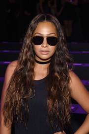 La La Anthony wore her long waves loose during the Vera Wang fashion show.