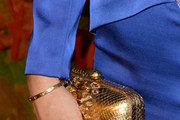 Victoria Hervey Metallic Clutch