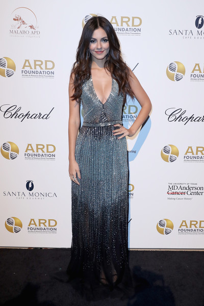 Victoria Justice Beaded Dress
