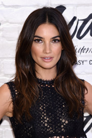 Lily Aldridge looked breathtakingly gorgeous with her long center-parted waves at the launch of the Easy Collection from Body by Victoria.