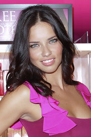Adriana Lima had a pretty pink pout at Fashion's Night Out in New York. Her warm, beige-pink lip color was neutral enough to work with almost any makeup look. To duplicate her style we recommend NARS Cream Lipstick in Catfight.