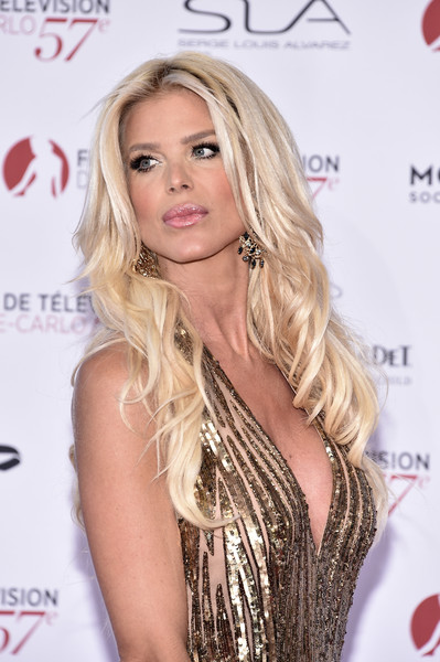 Victoria Silvstedt Long Wavy Cut [hair,blond,hairstyle,long hair,eyelash,beauty,lip,chin,shoulder,layered hair,monte-carlo,monaco,monte carlo tv festival,opening ceremony,monte carlo tv festival opening ceremony,victoria silvstedt]