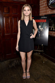 Kerris Dorsey opten for a classic black wrap dress when she attended the 'Ray Donovan' viewing party.